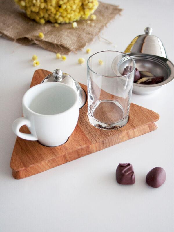 Narin - Ahşap Kahve Sunumluk