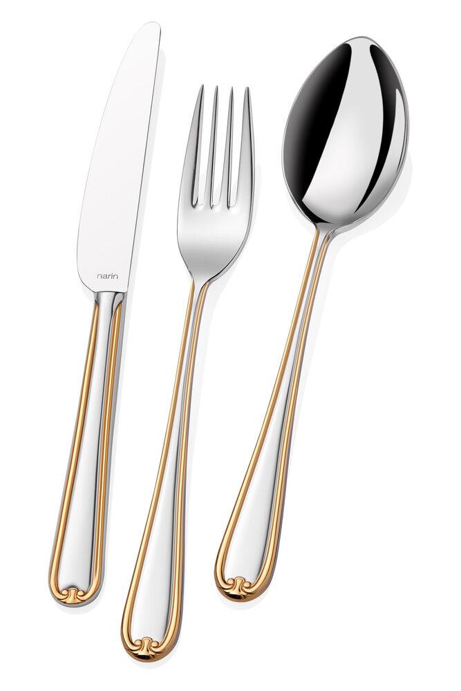 - Anatolia Serisi - Altın - Yemek Bıçak ( 6 Adet )