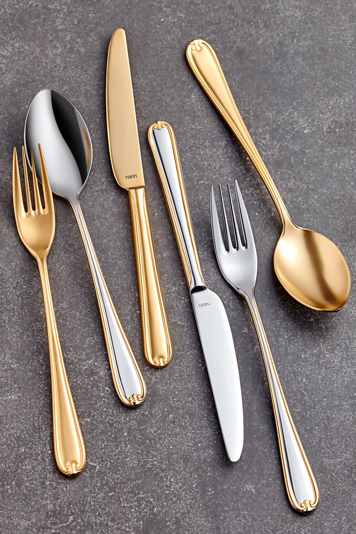 Anatolia Serisi - Mat Altın ( Tamamı ) - Tatlı Bıçak ( 6 Adet )