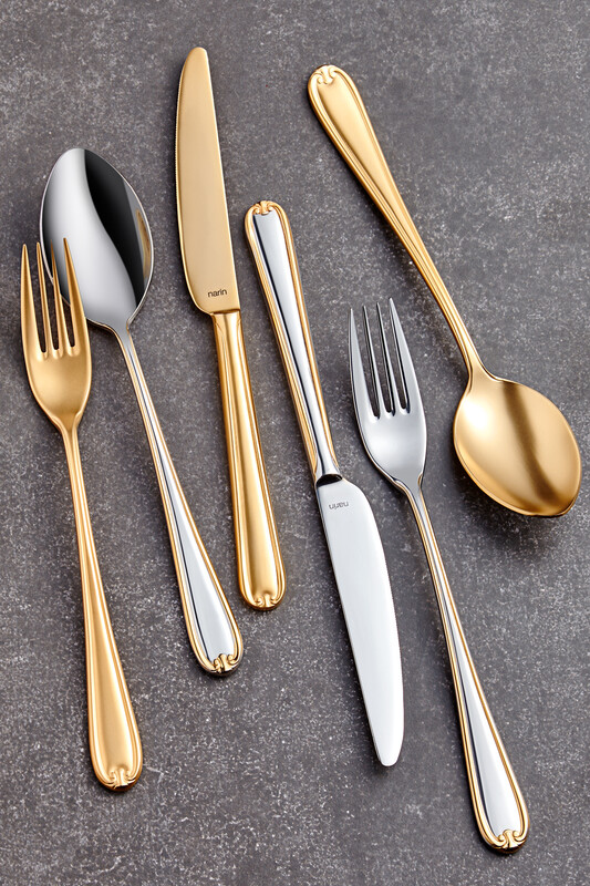 - Anatolia Serisi - Mat Altın ( Tamamı ) -Yemek Çatal ( 6 Adet )