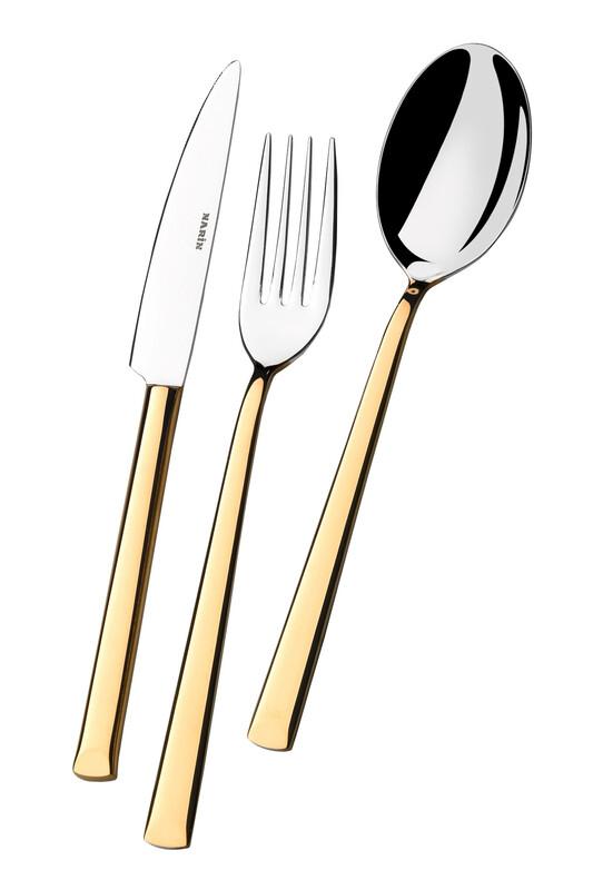 - Antares Serisi - Altın - Tatlı Bıçak ( 6 Adet )