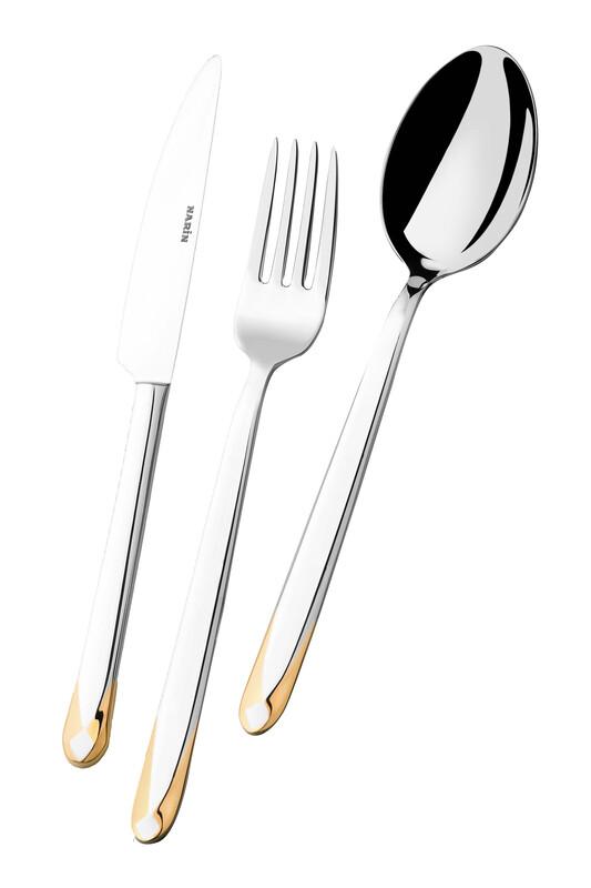 - Asellus Serisi - Altın - Tatlı Bıçak ( 6 Adet )