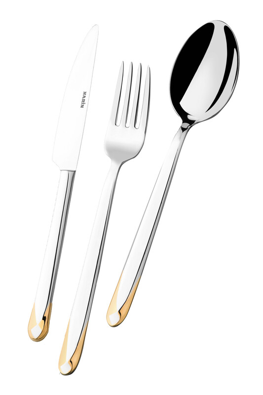 - Asellus Serisi - Altın - Yemek Çatal ( 6 Adet )