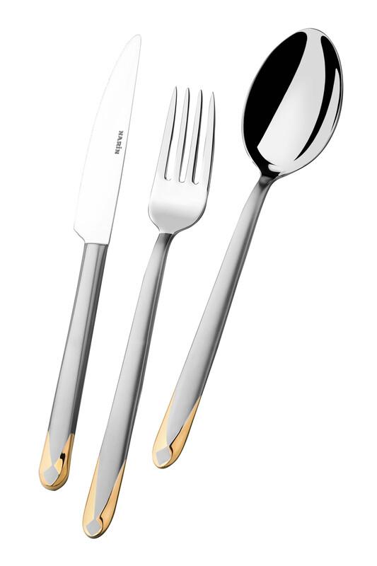 - Asellus Serisi - Mat Altın - Tatlı Bıçak ( 6 Adet )
