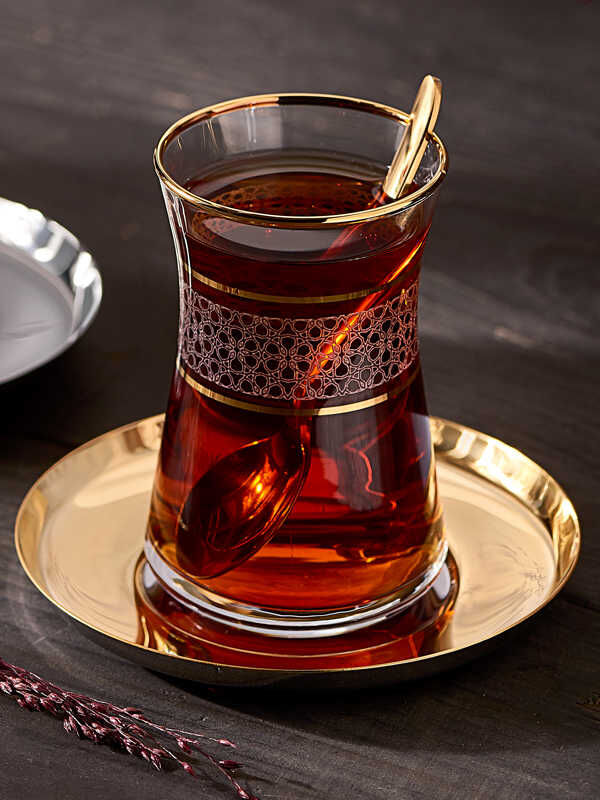Narin - Dantel Desenli Çay Bardak (6'lı)