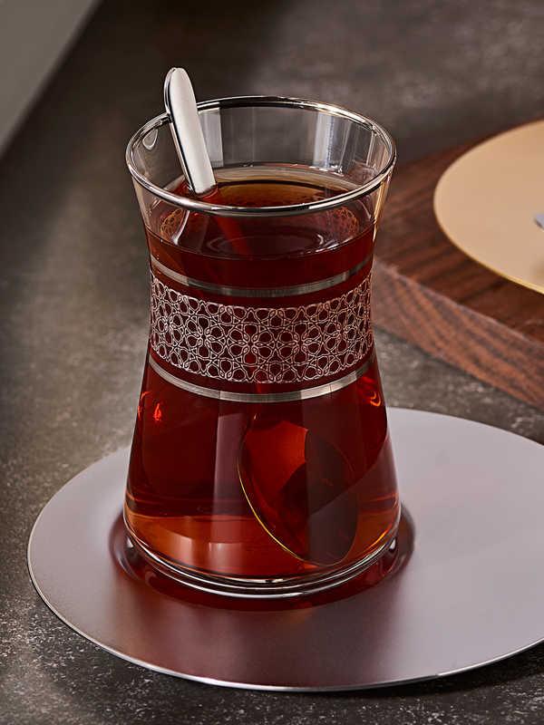 Dantel Desenli Çay Bardak (6'lı)