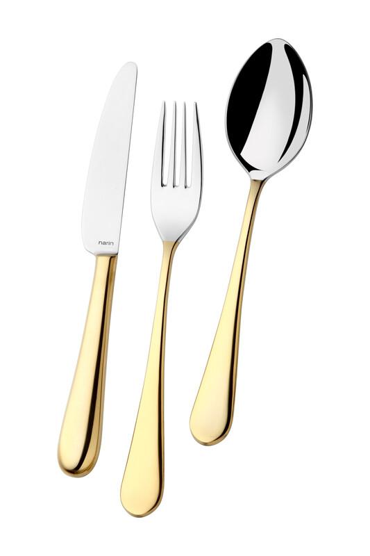 - Epsilon Serisi - Altın - Çay Kaşık ( 6 Adet )