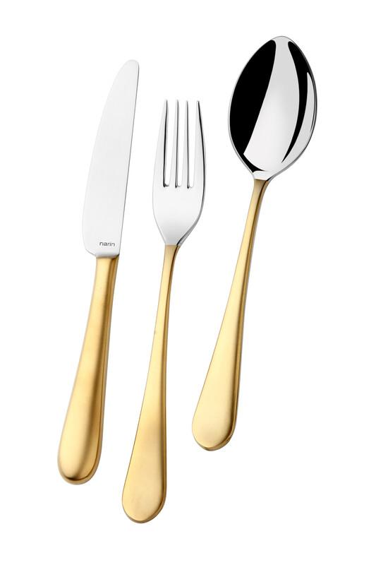 - Epsilon Serisi - Mat Altın - Yemek Çatal ( 6 Adet )