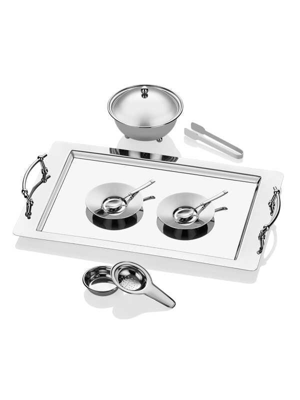 Narin - Gümüş Çay Seti - 30 Parça