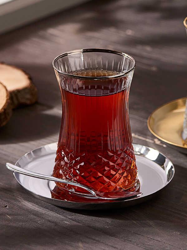 Narin - Kristal Dekorlu Çay Bardak ( 6'lı )
