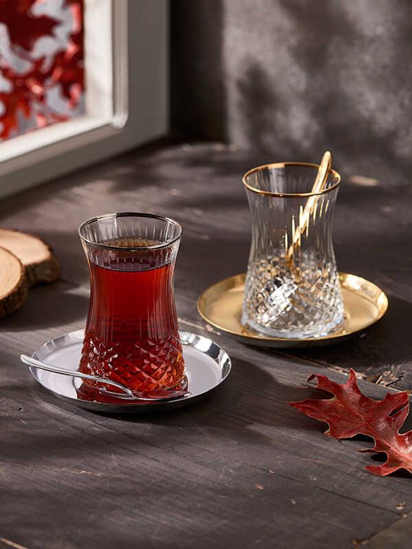 Narin - Kristal Dekorlu Halley Çay Keyfi - 19 Parça