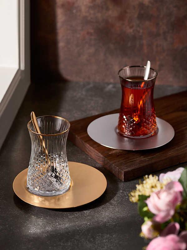 Narin - Kristal Dekorlu Satürn Çay Keyfi - 19 Parça