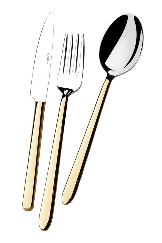 - Pladies Serisi - Altın - Tatlı Bıçak ( 6 Adet )