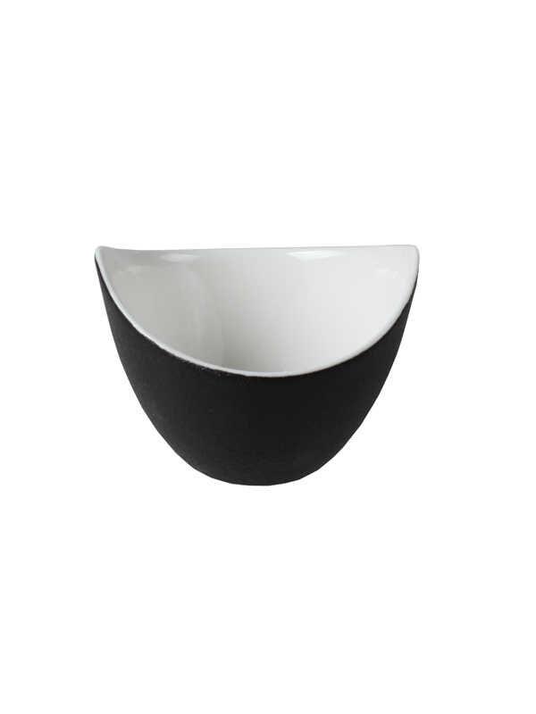 Narin - Porselen İkramlık - Siyah