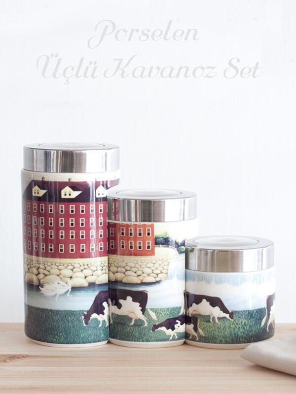 Narin - Porselen Kavanoz Seti