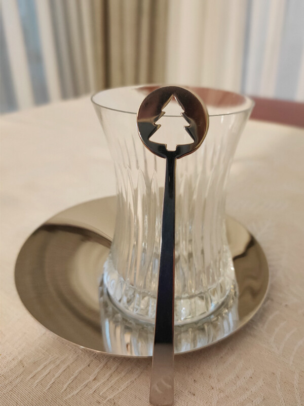 Satürn - Kristal Desenli - 19 Parça Çay Seti - Thumbnail