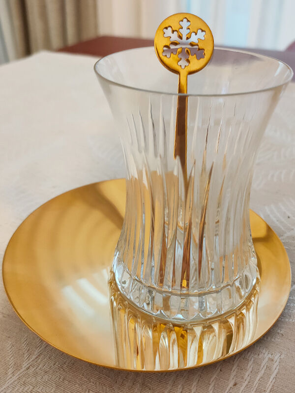- Satürn - Kristal Desenli - 19 Parça Çay Seti