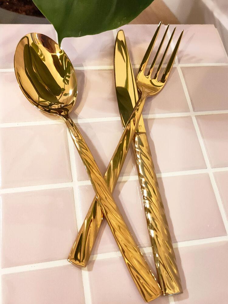 - Vega - Gold Titanyum - Yemek Bıçak ( 6 Adet )